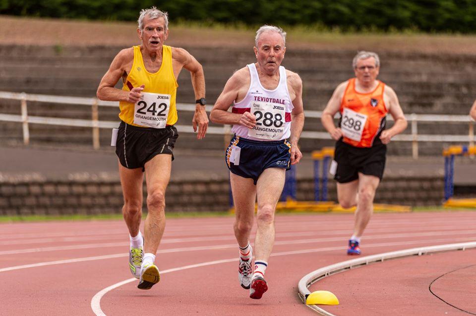 Three Masters running track in 2019