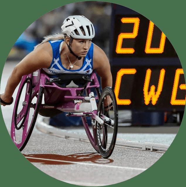 Sammi Kinghorn, Scottish World Champion wheelchair racer, at Gold Coast