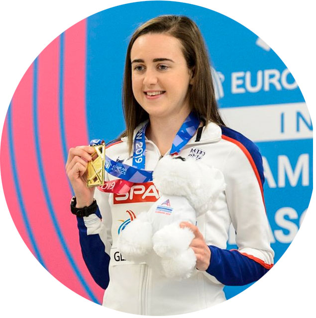 Laura Muir at the European Athletics Indoor Championships 2019